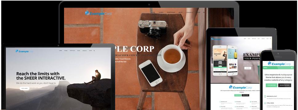 4 Screen Responsive Site